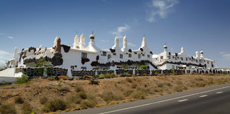 Beautiful Lanzarote architecture stock photo
