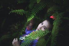 Laos woman,Beautiful Laos girl in costume stock photography