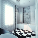 Beautiful Large Bathroom in Luxury Home Royalty Free Stock Images