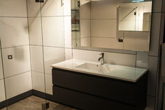 Beautiful Large Bathroom in Luxury New Home Royalty Free Stock Images