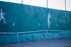 Beautiful a large colorful tennis court. Sport concept. stock images