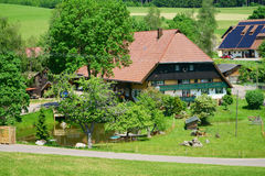 Beautiful and large country house in the Black Forest Stock Photo