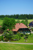 Beautiful and large country house in the Black Forest Royalty Free Stock Photos