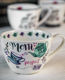 Beautiful large Cup for mother's day and March 8 Royalty Free Stock Image