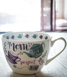 Beautiful large Cup for mother's day and March 8 Royalty Free Stock Photos