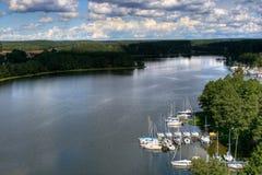 Poland lake. Beautiful large lake in Poland Royalty Free Stock Photography