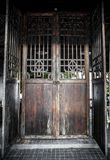 Beautiful large old wooden door Stock Images