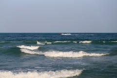 Beautiful large sea waves Stock Image