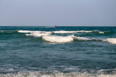 Beautiful large sea waves Royalty Free Stock Images