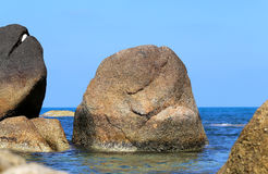 Beautiful large stones in the sea Royalty Free Stock Photo