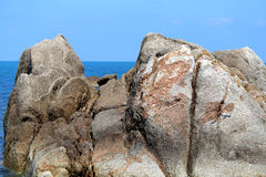 Beautiful large stones in the sea Stock Photos