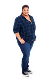 Beautiful large woman stock images