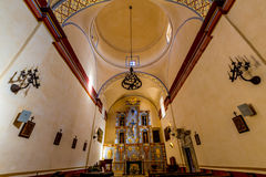 The Beautiful Larger Chapel of the Historic Old West Spanish Mission San Jose Stock Photos