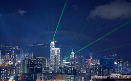 Beautiful laser night Royalty Free Stock Image