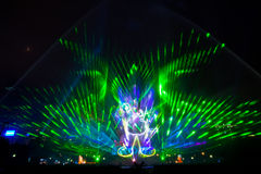 Beautiful laser show Stock Images