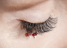 Beautiful lashing and a good model in face of minnie mouse. Beauty lash beauty face for lashing Stock Photos