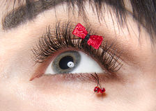 Beautiful lashing and a good model in face of minnie mouse. Beauty lash beauty face for lashing Stock Image