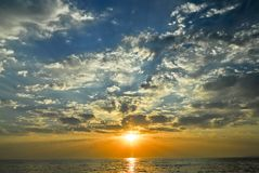 A beautiful late afternoon sky Royalty Free Stock Images