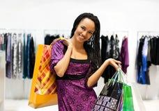 Beautiful  latin american women shopping Stock Photography