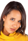 Beautiful latin brunette Stock Photo