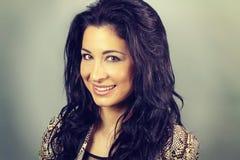 Beautiful latin brunette smiling Stock Photography