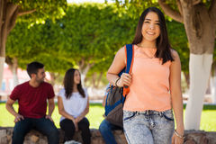 Beautiful Latin college student Stock Photo