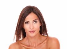 Beautiful latin female looking at camera stock photo
