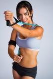 Beautiful Latin Fitness Woman Stock Photo
