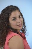Beautiful latin girl with curly hair stock photos