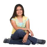 Beautiful latin girl on the floor Royalty Free Stock Image