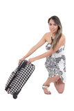 Beautiful latin girl wearing summer dress posing Royalty Free Stock Photos