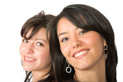Beautiful latin sisters Stock Photography