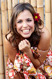 Beautiful latin smiling woman Stock Images