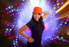 Beautiful Latin teen hispanic girl cap posing royalty free stock photos