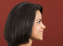 Beautiful latin woman side view Royalty Free Stock Photography