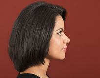Beautiful latin woman side view Royalty Free Stock Photos