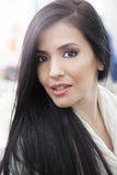 Beautiful latin woman. Beautiful young latin woman portrait Stock Photography