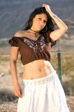 Beautiful Latina in Desert Royalty Free Stock Images