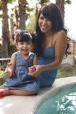Beautiful Latina Mother and Daughter Stock Image