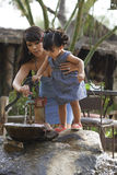 Beautiful Latina Mother and Daughter Stock Images