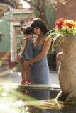 Beautiful Latina Mother and Daughter Stock Photography