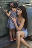 Beautiful Latina Mother and Daughter Royalty Free Stock Photo