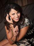 Beautiful Latina Woman on Cell Phone Royalty Free Stock Image
