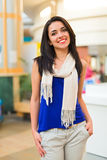 Beautiful Latina Woman in Mall Royalty Free Stock Images