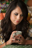 Beautiful Latina Woman with Many Bills Royalty Free Stock Photos
