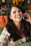 Beautiful Latina Woman on Phone stock photo