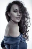 Beautiful latino girl on white Royalty Free Stock Image