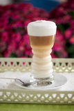 Beautiful latte coffee Royalty Free Stock Photography