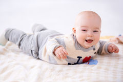Beautiful laughing baby Royalty Free Stock Photos