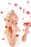 Beautiful laughing bride. Stock Photography